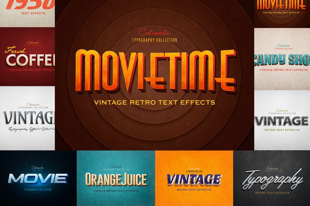 Vintage/Retro Text Effects 7 - product preview 0