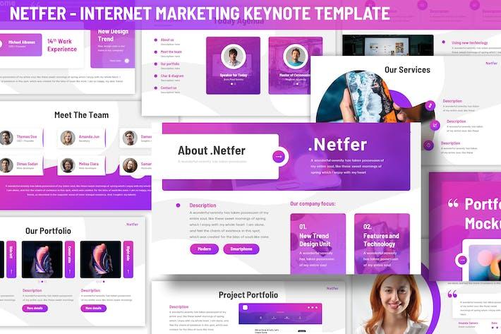 Thumbnail for Netfer - Internet Marketing Keynote Vorlage