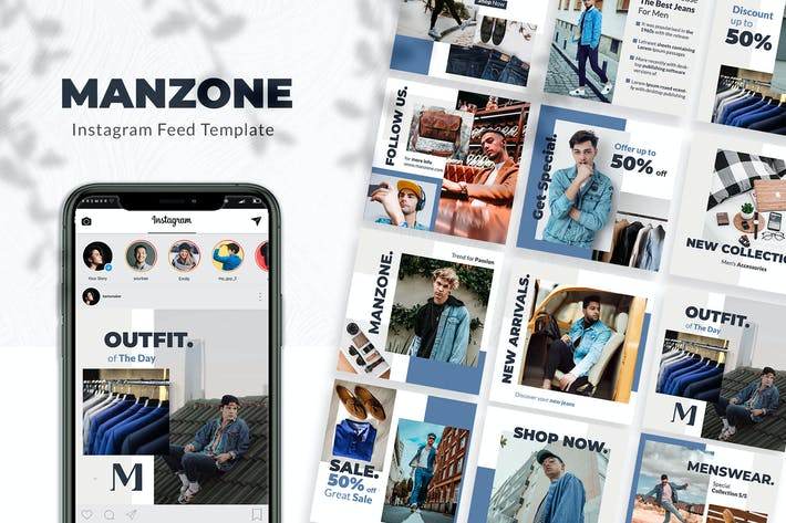 Thumbnail for Menzone - Menswear Instagram Feeds