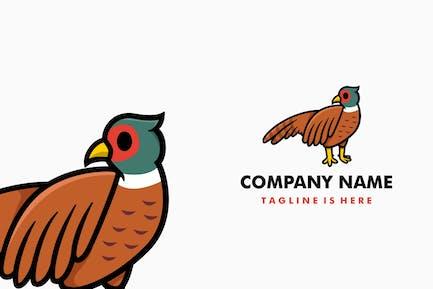 Cute Pheasant Cartoon Logo