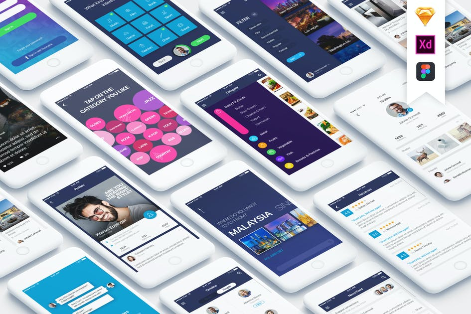 Download Mountify Mobile UI Kit by hoangpts