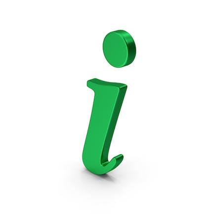 Symbol Info Green Metallic