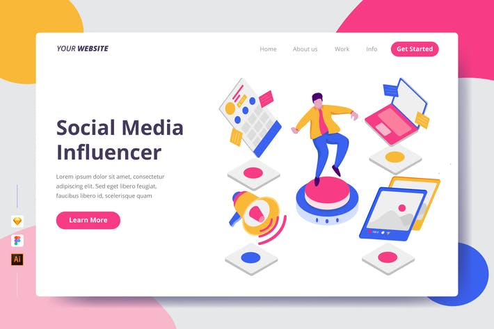 Thumbnail for Social Media Influencer - Landing Page