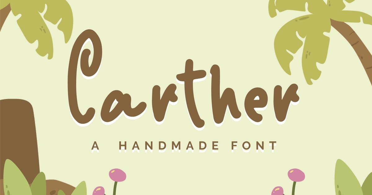 Download Carther - A Handmade Font by IanMikraz