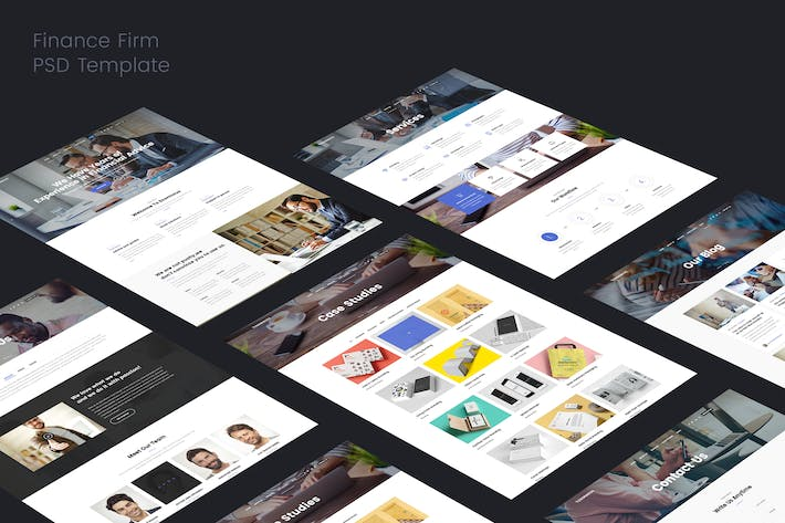 Cover Image For Finance Firms PSD Template