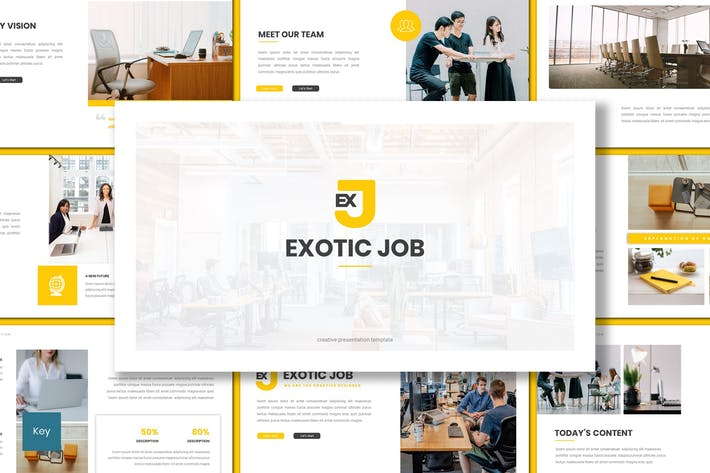 Thumbnail for Exotic Job - Business Keynote Template