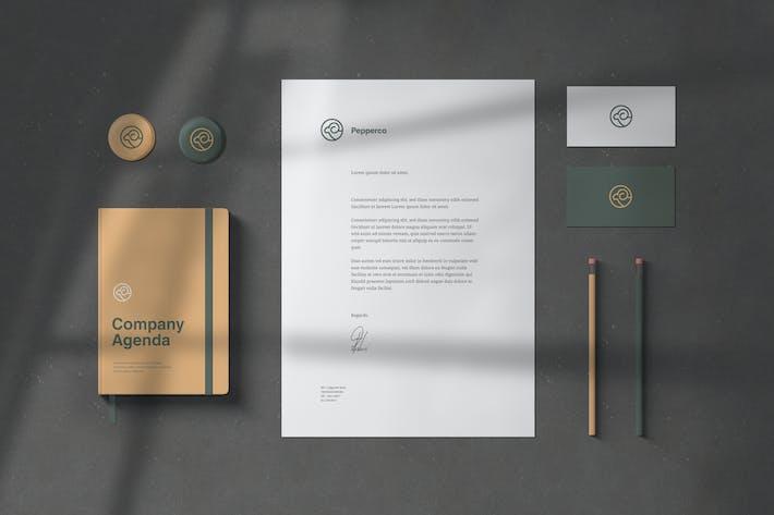 Cover Image For Branding/Briefpapier-Mock-ups
