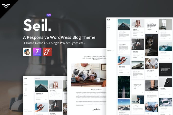 Thumbnail for Seil - A Responsive WordPress Blog Theme