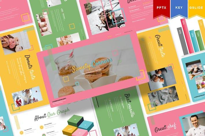 Thumbnail for Sweety Corners   Powerpoint, ключ, Google Слайды