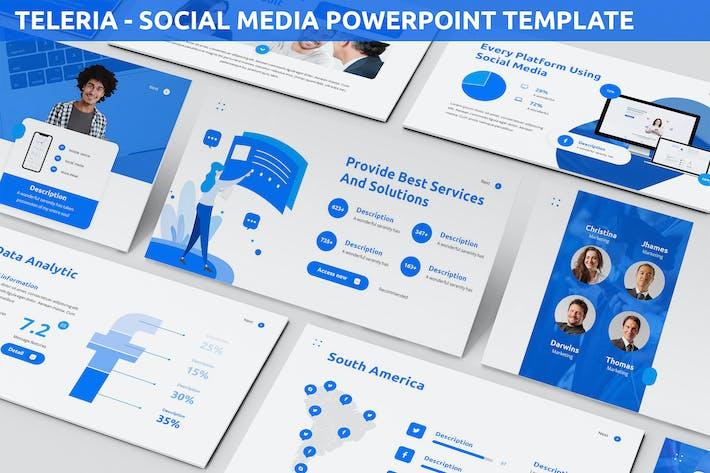 Teleria - Social Media Powerpoint Template