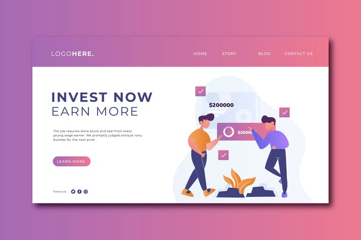 Thumbnail for Investment Business Landing Page