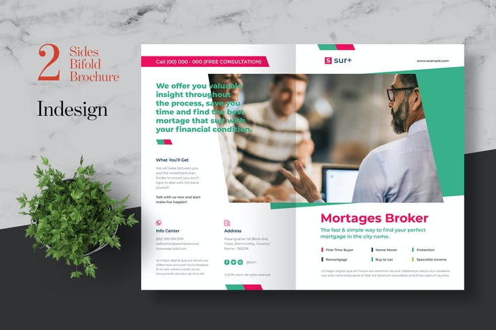 Thumbnail for Clean Mortages Broker Bifold Brochure