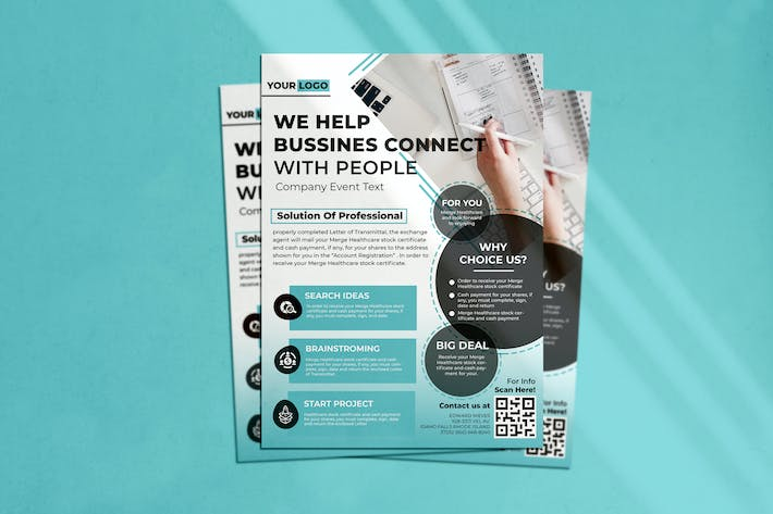 Cover Image For Help Business Flyer
