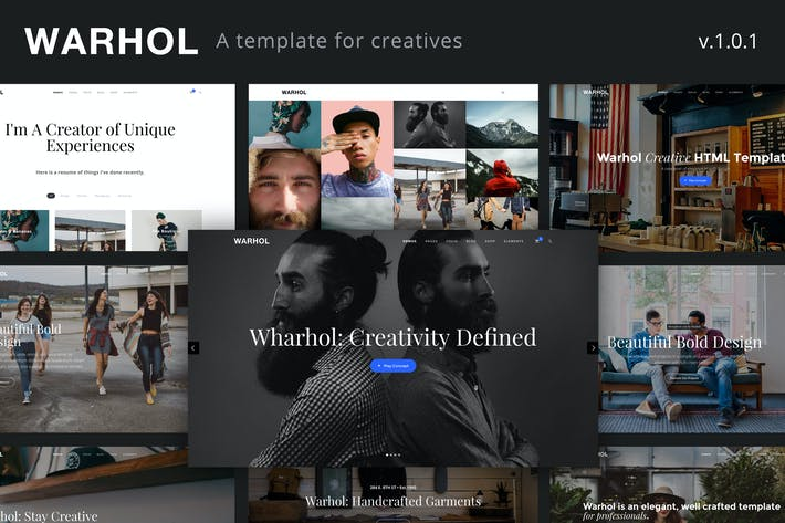 Thumbnail for Warhol - Creative Multipurpose HTML Template