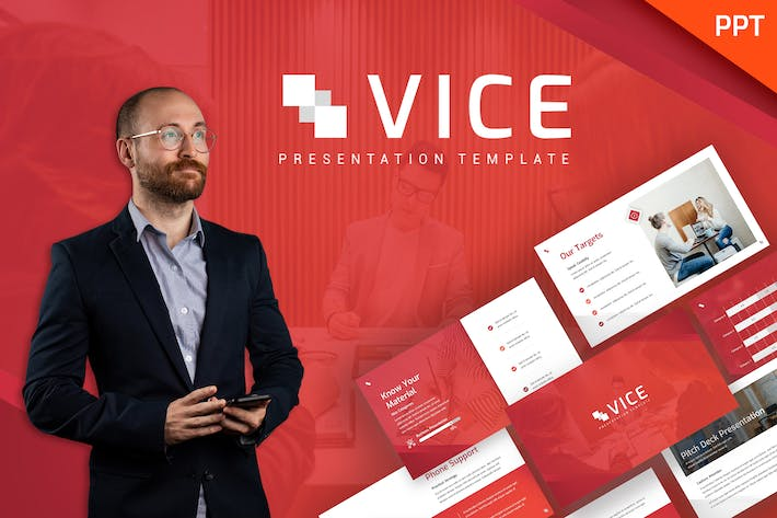 Thumbnail for Шаблон Vice - Business Powerpoint