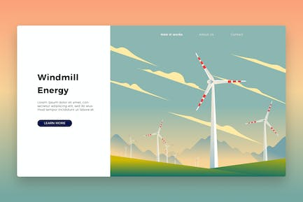 Windmill Banner & Landing Page
