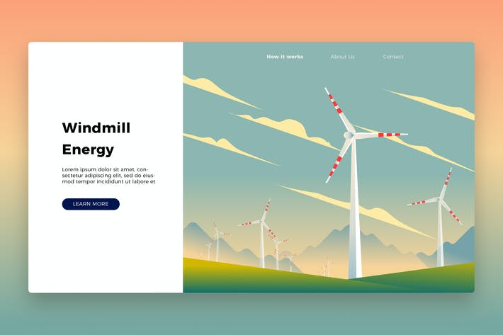 Thumbnail for Windmill Banner & Landing Page