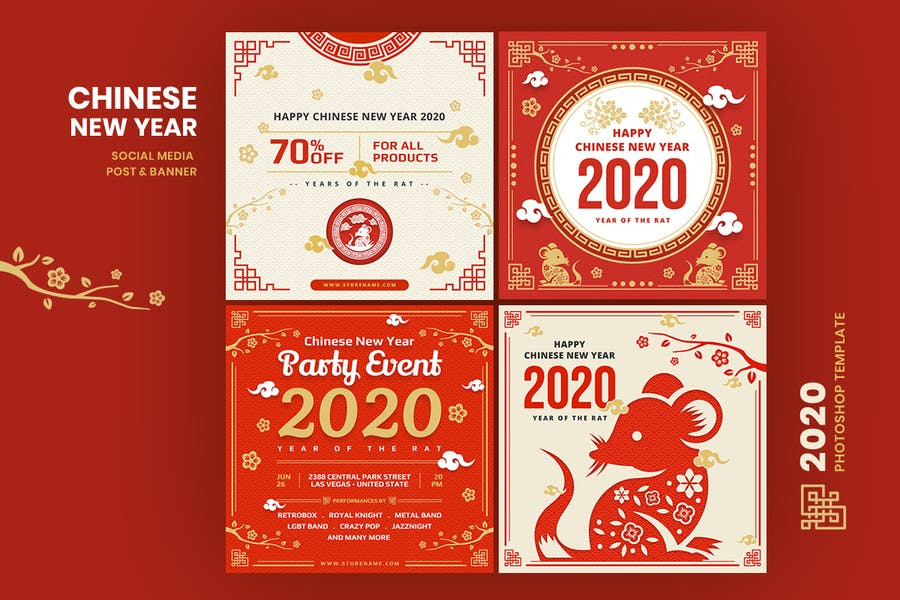 Chinese New Year Social Media Post Template