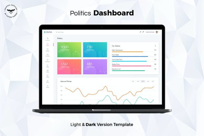 Thumbnail for Politics Admin Dashboard UI Kit