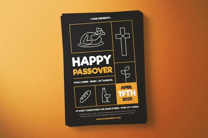 Thumbnail for Happy Passover Flyer