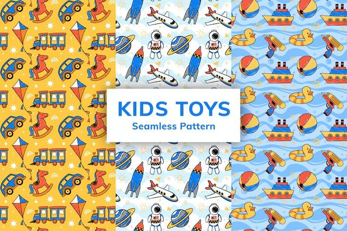 Thumbnail for Детские игрушки Бесшовный узор