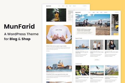 Munfarid - тема WordPress для блога и магазина