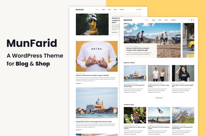 Thumbnail for Munfarid - A WordPress Theme For Blog & Shop