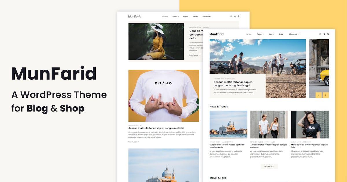 Download Munfarid - A WordPress Theme For Blog & Shop by energeticthemes