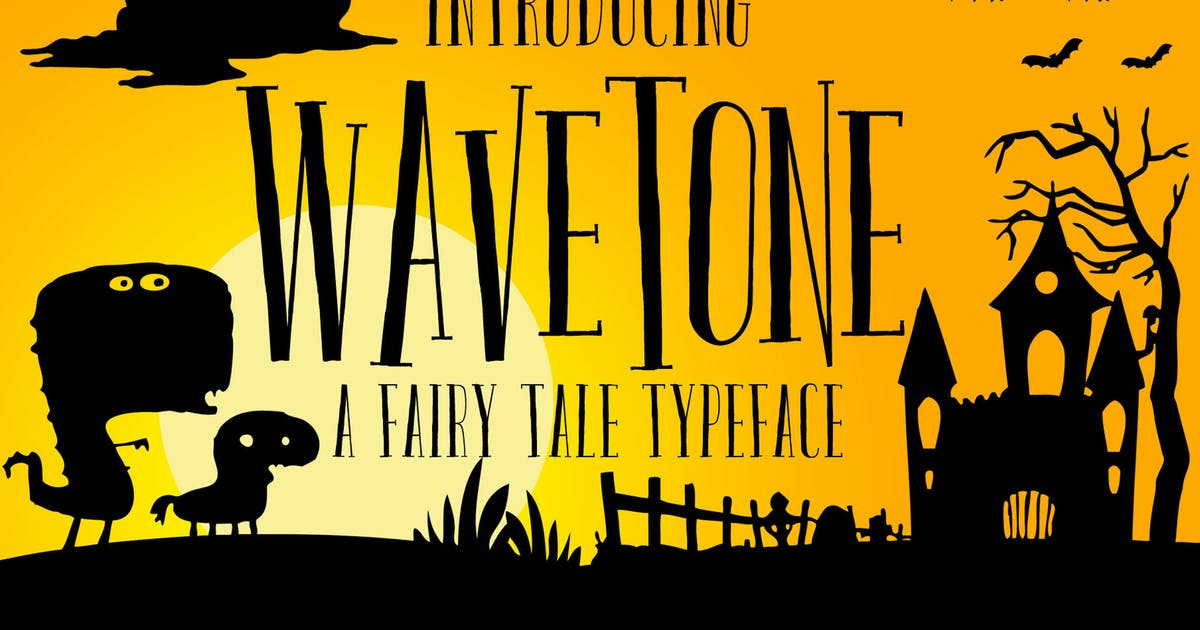 Wavetone Typeface by graptailtype