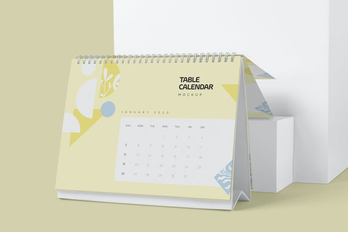 Thumbnail for Table Calendar Mockups