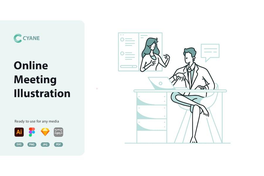 Cyane - Online-Meeting-Illustration