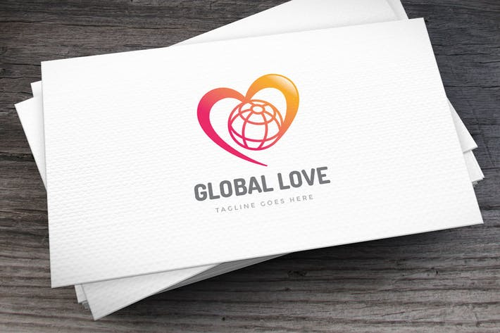 Thumbnail for Global Love Logo Template