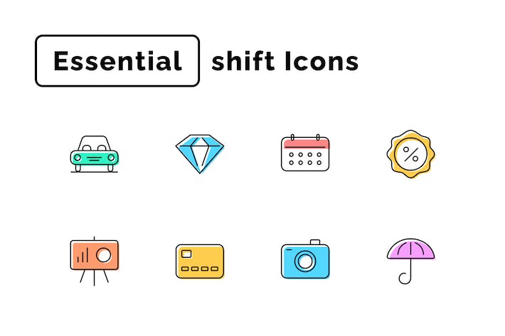 Thumbnail for Essential Shift Icons