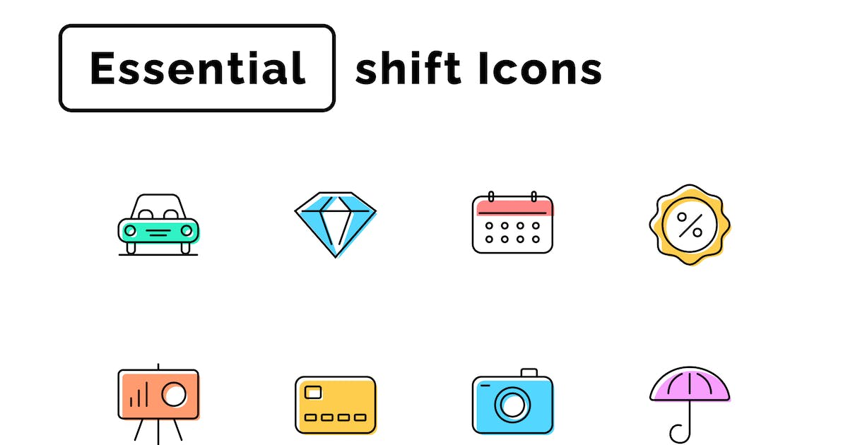 Download Essential Shift Icons by Rengised