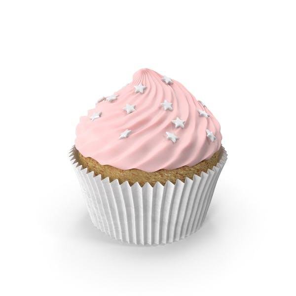 Розовый кекс