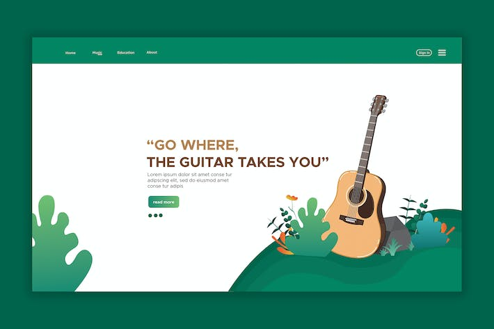 Thumbnail for Guitar - Web Header & landing Page