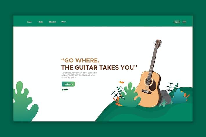Thumbnail for Guitar - Web Header & landing Page