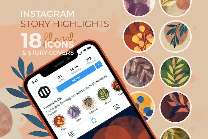 Thumbnail for Floral Instagram Story Highlights and Covers