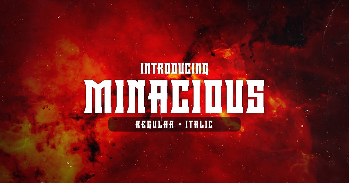 Download Minacious Font by febryangraves