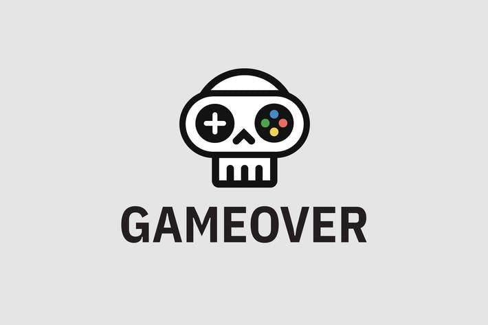 Cover Image For Game Over — Logo Template