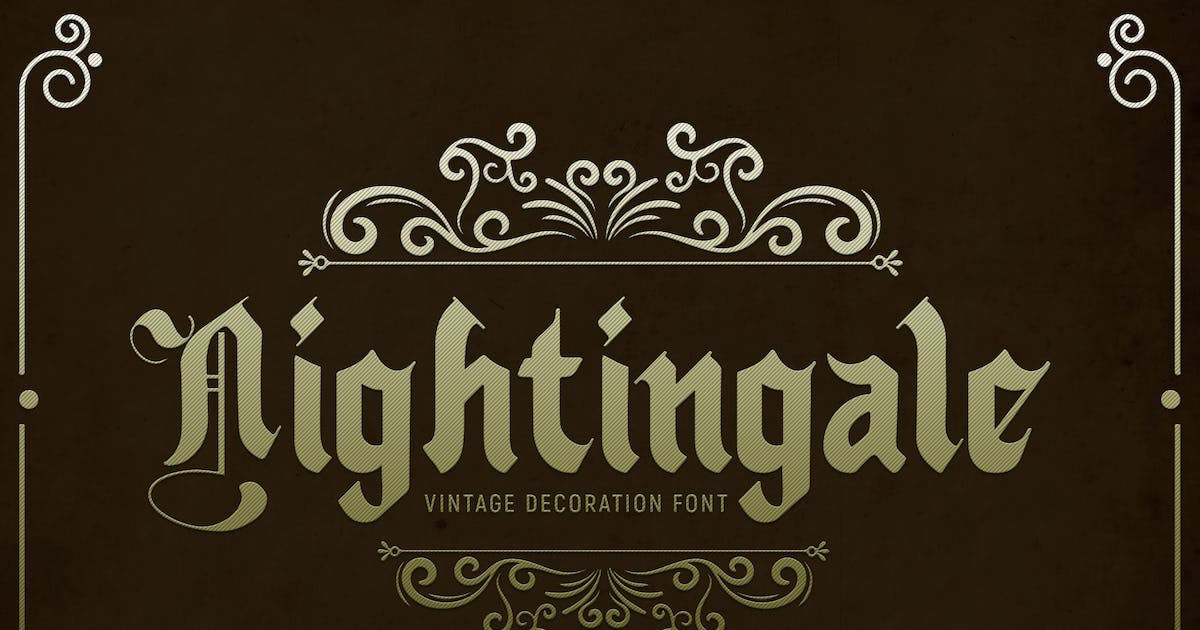 Download Nightingale - Font by Blesstudio