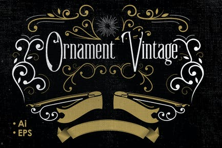 Vintage Vector Ornaments