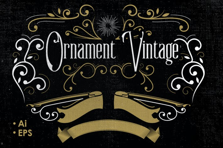 Thumbnail for Vintage Vector Ornaments