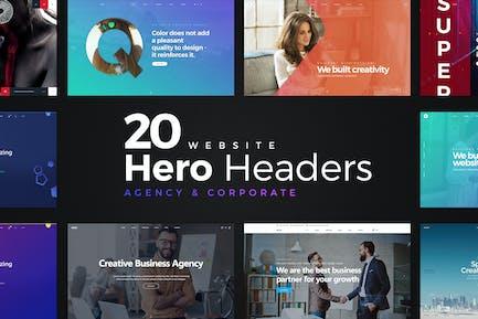 20 en-têtes de héros de site Web