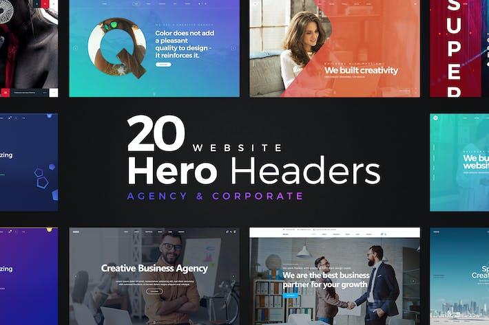 Cover Image For 20 Website Hero Headers