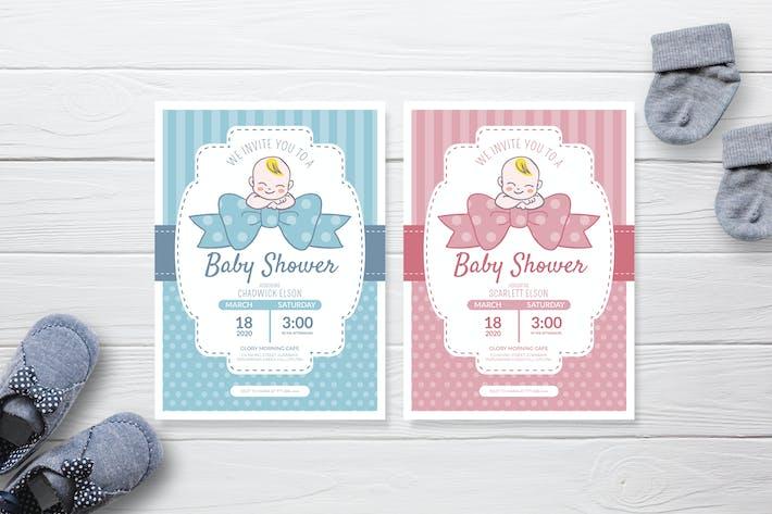 Baby Ribbon - Baby Shower Invitation