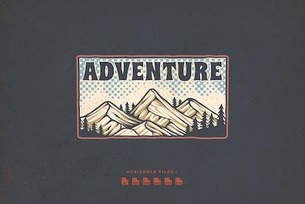 Mountain Adventure Vintage logo
