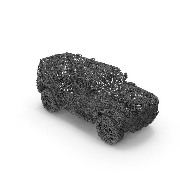 Скульптура проволочных транспортных средств