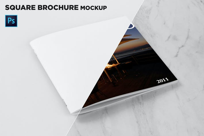 Cover Image For Square Brochure Cover Mockup