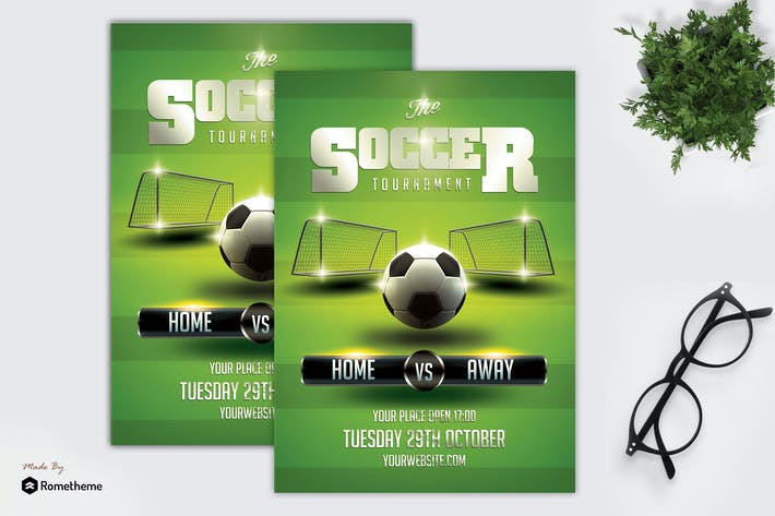 Cover Image For Soccer Flyer Template vol. 02 MR